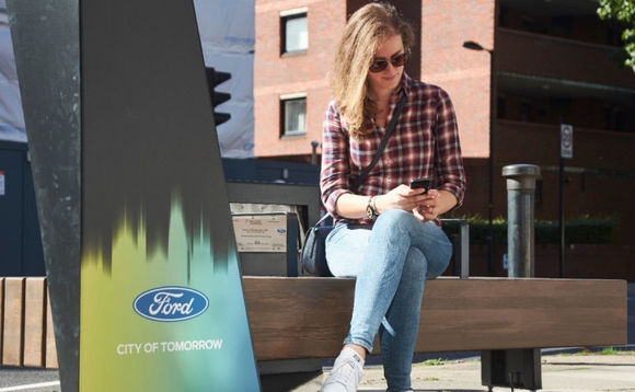 Ford debuts solar-powered smart benches