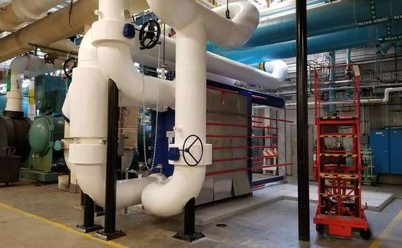 Heat exchanger installed in Boulder, Colorado, to increase IBM's ability to use the temperature of the outside air to cool the data centre / CREDIT: IBM