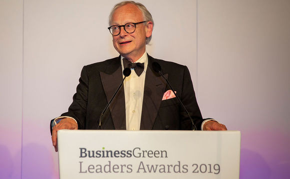Lord Deben received the award for lifetime achievement last night's BusinessGreen Leaders Awards 2019