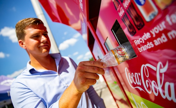 Coca-Cola is stepping up efforts to use recycled plastics while calling for wider rollout of Deposit Return Schemes
