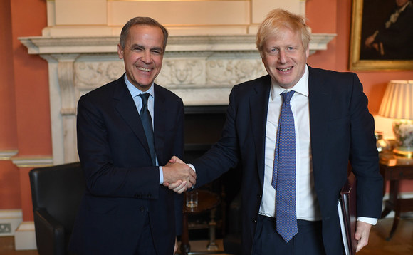 Mark Carney met with Boris Johnson in Downing Street earlier today | Credit: Number 10