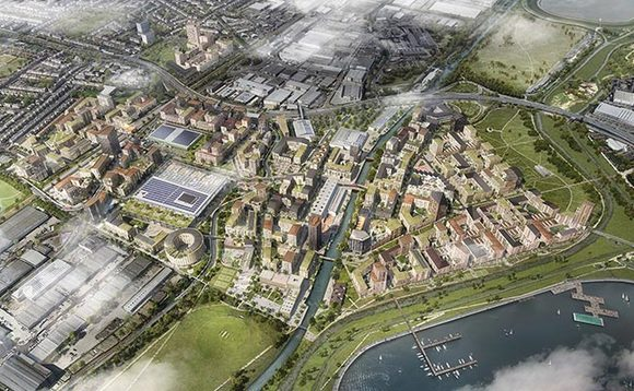 A masterplan of the Meridian Water development