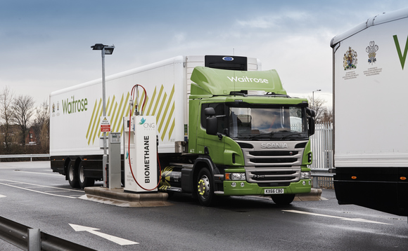 Low carbon fuels such as compressed natural gas can be used in heavy transport such as HGVs | Credit: John Lewis
