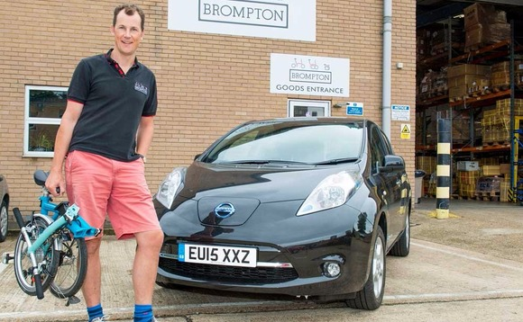 Iconic green brands team up as Brompton Bicycle offers Nissan LEAF to staff