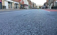 The new highway is being laid on Lowther Street in Carlisle city centre