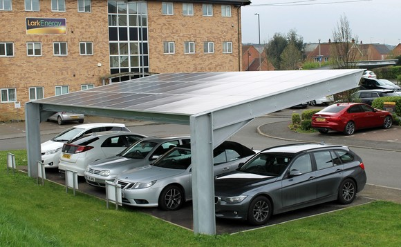 Lark Energy's solar PV car ports in Lincolnshire