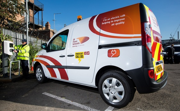 One of the new electric vans | Credit: UKPN