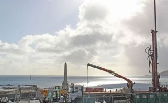 Drilling has begun on a geothermal well at the Jubilee Pools in Penzance