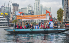 Gone fishing: Environment minister sets sail on world's first recycled plastic boat