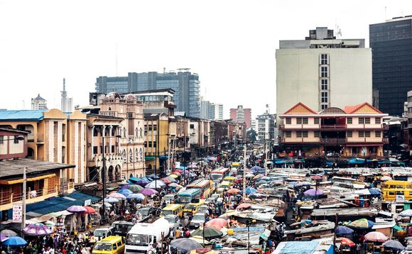 Lagos in Nigeria is one of several 'extreme risk' cities cited in the analysis