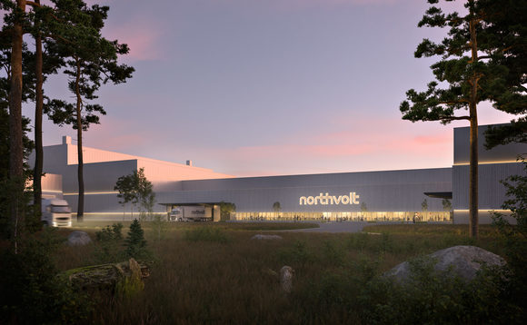 A rendering of a future Northvolt battery production facility. Credit: Northvolt