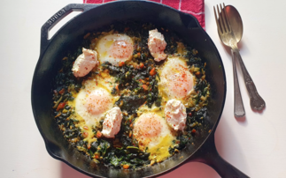 A shakshuka made with surplus greens | Credit: Sustainable Restaurant Association