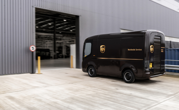 UPS has put in an order for 10,000 electric vans from Arrival | Credit: Arrival