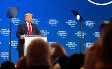President Trump addressing the WEF summit in Davos today | Credit: World Economic Forum