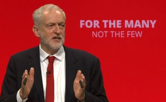Labour leader Jeremy Corbyn said low-carbon investment is key to sustainable economic growth