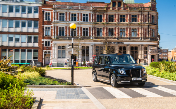 One of the new electric black cabs hitting the streets of London