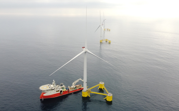 WindFloat Atlantic's turbines are the largest ever installed on a floating platform | Credit: Windplus