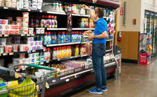 A shopper at Fred Meyer store, a chain of hypermarket superstores located in the western United States, owned by Kroger. Kroger is the exclusive US supermarket partner of Loop.