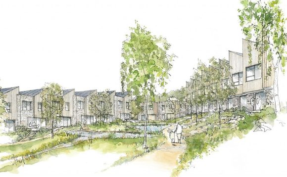 Artist impression of the Parc Hadau site, which will be built on scrubland | Credit: Sero Homes
