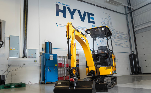 Hyperdrive's new facility will produce high powered batteries for electric vehicles, including JCB excavators. Image courtesy of Hyperdrive